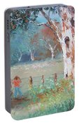 Over The Fence By Jan Matson Portable Battery Charger