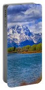 Oxbow Bend In Spring Portable Battery Charger