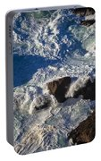 Pacific Ocean Against Rocks Portable Battery Charger