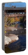 Packard Hill Bridge Lebanon New Hampshire Portable Battery Charger by Edward Fielding