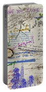 Page From The Madwoman's Notebook Portable Battery Charger