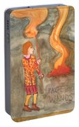 Page Of Wands Portable Battery Charger
