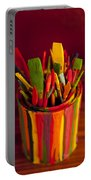 Paint Can And Paint Brushes Still Life Portable Battery Charger