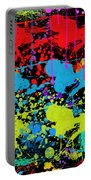 Paint Splatter - Black Portable Battery Charger