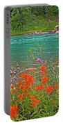 Paintbrush By Bow River In Banff Np-ab Portable Battery Charger