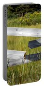 Painted Fence Portable Battery Charger