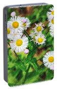 Painted Fleabane Portable Battery Charger