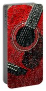 Painted Guitar - Music - Red Portable Battery Charger