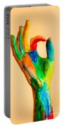 Painted Hand With Ok Sign Portable Battery Charger