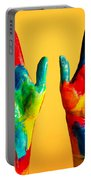 Painted Hands Portable Battery Charger
