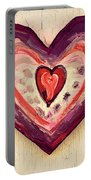 Painted Heart Portable Battery Charger
