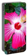 'painted Lady' Hibiscus Portable Battery Charger