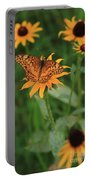 Painted Lady With Friends Portable Battery Charger