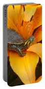 Painted Lilly Portable Battery Charger