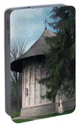Painted Monastery Portable Battery Charger