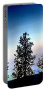 Painted Pine Tree Trio Portable Battery Charger