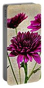 Painted Pink Bouquet Portable Battery Charger