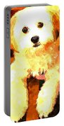 Painted Puppy Portable Battery Charger