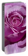 Painted Purple Rose  Portable Battery Charger