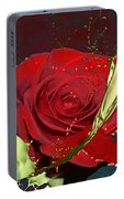 Painted Rose Portable Battery Charger