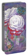 Painted Roses For Wonderland's Heartless Queen Portable Battery Charger