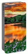 Painted Sunset Portable Battery Charger