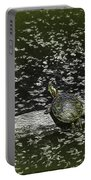 Painted Turtle Sleeping Like A Log Portable Battery Charger