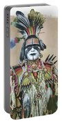 Painted  Warrior  Portable Battery Charger