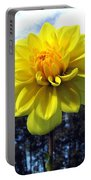 Painted Yellow Dahlia Portable Battery Charger