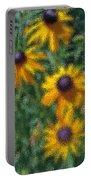 Painterly Flowers Portable Battery Charger