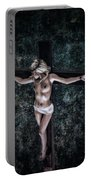 Painting Female Crucifix I Portable Battery Charger