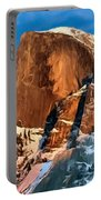 Painting Half Dome Yosemite N P Portable Battery Charger