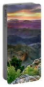 Painting Of Desert View Grand Canyon Portable Battery Charger