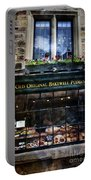 Can You See The Ghost In The Top Window At The Old Original Bakewell Pudding Shop Portable Battery Charger