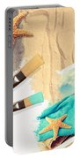 Painting Summer Postcard Portable Battery Charger by Amanda Elwell