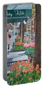 Painting The New York Street Portable Battery Charger