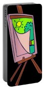 Painting Veil Canvas Portable Battery Charger