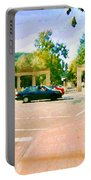 Paintings Of Roddick Gates Entrance Mcgill Campus  From Sherbrooke Towards The Mountain Cspandau Art Portable Battery Charger