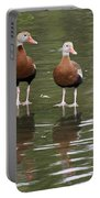 Pair Black-bellied Whistling-ducks Portable Battery Charger