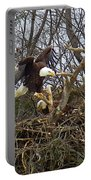 Pair Of Bald Eagles At Their Nest Portable Battery Charger