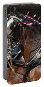 Pair Of Budweiser Clydesdale Horses In Harness Usa Rodeo Portable Battery Charger
