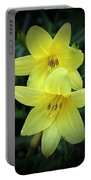Pair Of Lemon Lilies Portable Battery Charger
