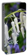 Pair Of White Bluebells Portable Battery Charger