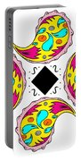 Paisley Flower Abstract Viii Portable Battery Charger