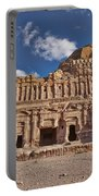 Palace Tomb In Nabataean Ancient Town Petra Portable Battery Charger