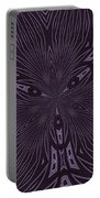 Pale Aubergine And Eggplant Abstract Pattern Kaleidoscope Portable Battery Charger