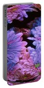 Pale Moon Flower Orb Portable Battery Charger