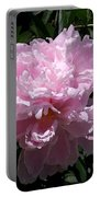 Pale Pink Peony Watercolor Effect Portable Battery Charger