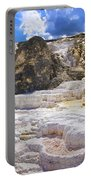 Palette Spring Terrace Panorama - Yellowstone National Park Wyoming Portable Battery Charger