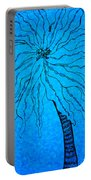 Palm Blue Portable Battery Charger